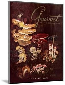 Gourmet Cover - April 1958 by Henry Stahlhut