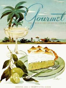 Gourmet Cover - August 1944 by Henry Stahlhut