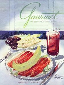 Gourmet Cover - August 1950 by Henry Stahlhut