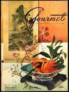 Gourmet Cover - August 1952 by Henry Stahlhut