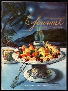 Gourmet Cover - August 1954 by Henry Stahlhut