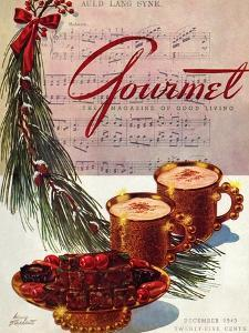Gourmet Cover - December 1943 by Henry Stahlhut
