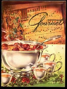 Gourmet Cover - December 1953 by Henry Stahlhut