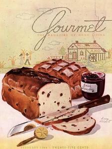 Gourmet Cover - February 1944 by Henry Stahlhut