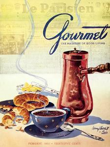 Gourmet Cover - February 1950 by Henry Stahlhut