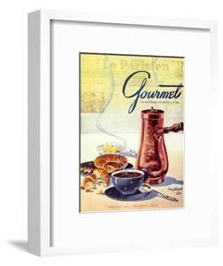 Gourmet Cover - February 1950 by Henry Stahlhut