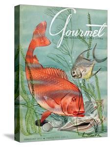 Gourmet Cover - February 1951 by Henry Stahlhut