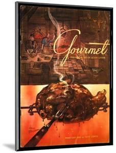 Gourmet Cover - February 1953 by Henry Stahlhut