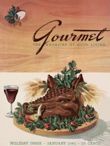 Gourmet Cover - January 1941 by Henry Stahlhut