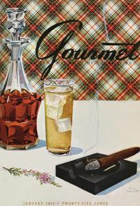 Gourmet Cover - January 1943 by Henry Stahlhut