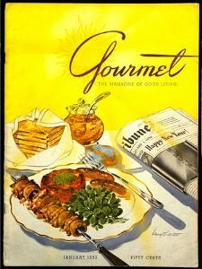 Gourmet Cover - January 1953 by Henry Stahlhut
