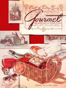 Gourmet Cover - January 1954 by Henry Stahlhut
