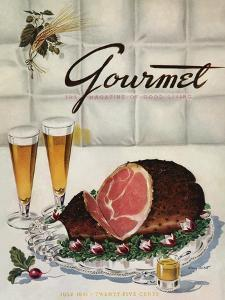 Gourmet Cover - July 1941 by Henry Stahlhut