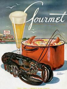 Gourmet Cover - July 1945 by Henry Stahlhut