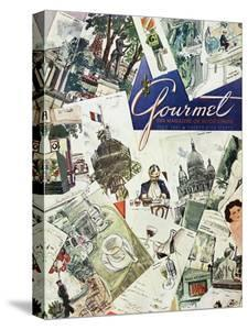 Gourmet Cover - July 1951 by Henry Stahlhut