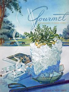 Gourmet Cover - July 1952 by Henry Stahlhut