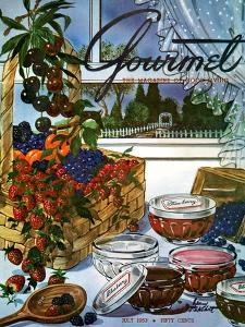 Gourmet Cover - July 1953 by Henry Stahlhut