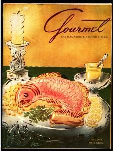 Gourmet Cover - July 1954 by Henry Stahlhut