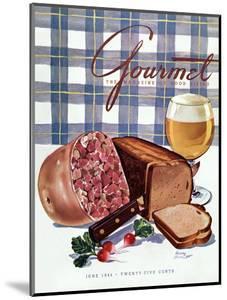 Gourmet Cover - June 1944 by Henry Stahlhut