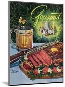 Gourmet Cover - June 1949 by Henry Stahlhut