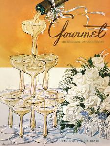 Gourmet Cover - June 1952 by Henry Stahlhut