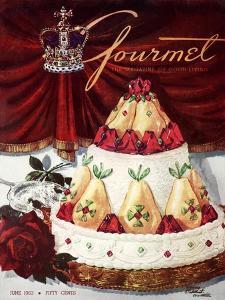 Gourmet Cover - June 1953 by Henry Stahlhut
