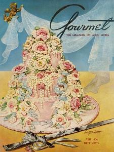 Gourmet Cover - June 1954 by Henry Stahlhut