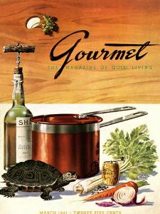Gourmet Cover - March 1941 by Henry Stahlhut