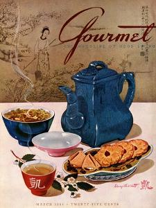 Gourmet Cover - March 1944 by Henry Stahlhut