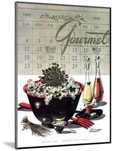 Gourmet Cover - March 1945 by Henry Stahlhut
