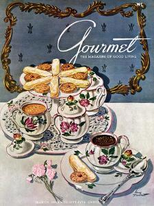 Gourmet Cover - March 1948 by Henry Stahlhut