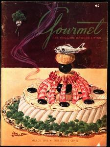 Gourmet Cover - March 1952 by Henry Stahlhut