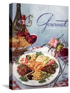 Gourmet Cover - March 1953 by Henry Stahlhut