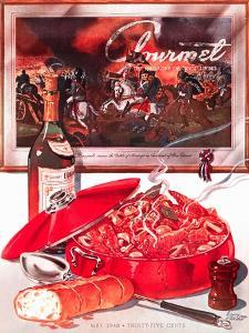 Gourmet Cover - May 1948 by Henry Stahlhut