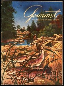 Gourmet Cover - May 1954 by Henry Stahlhut