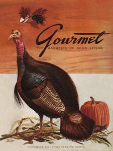 Gourmet Cover - November 1941 by Henry Stahlhut