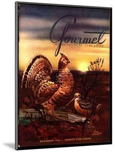 Gourmet Cover - November 1945 by Henry Stahlhut