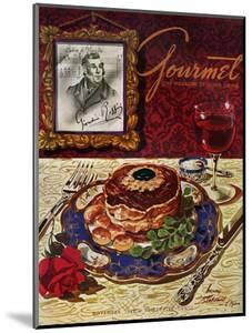 Gourmet Cover - November 1949 by Henry Stahlhut