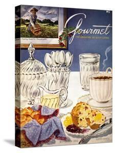 Gourmet Cover - November 1952 by Henry Stahlhut