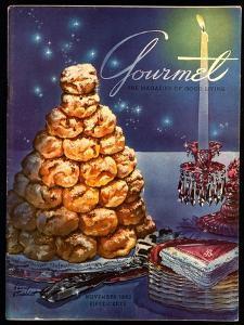 Gourmet Cover - November 1953 by Henry Stahlhut