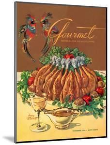 Gourmet Cover - November 1954 by Henry Stahlhut