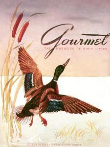 Gourmet Cover - October 1941 by Henry Stahlhut