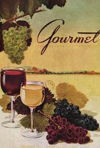 Gourmet Cover - October 1942 by Henry Stahlhut
