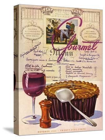 Gourmet Cover - October 1944