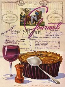 Gourmet Cover - October 1944 by Henry Stahlhut