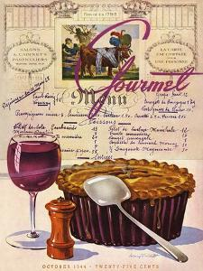 Gourmet Cover - October 1944 by Henry Stahlhut