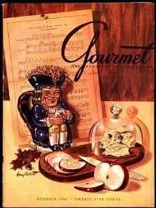 Gourmet Cover - October 1945 by Henry Stahlhut