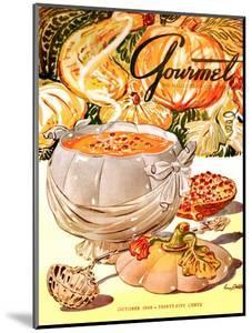 Gourmet Cover - October 1948 by Henry Stahlhut