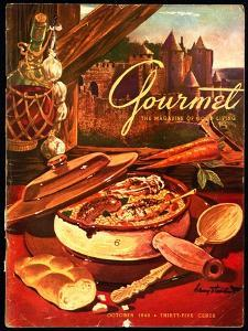Gourmet Cover - October 1949 by Henry Stahlhut