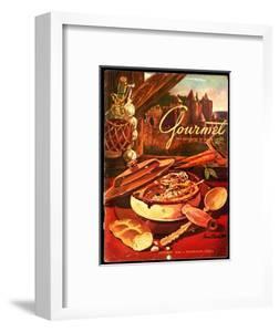 Gourmet Cover - October 1949 by Henry Stahlhut